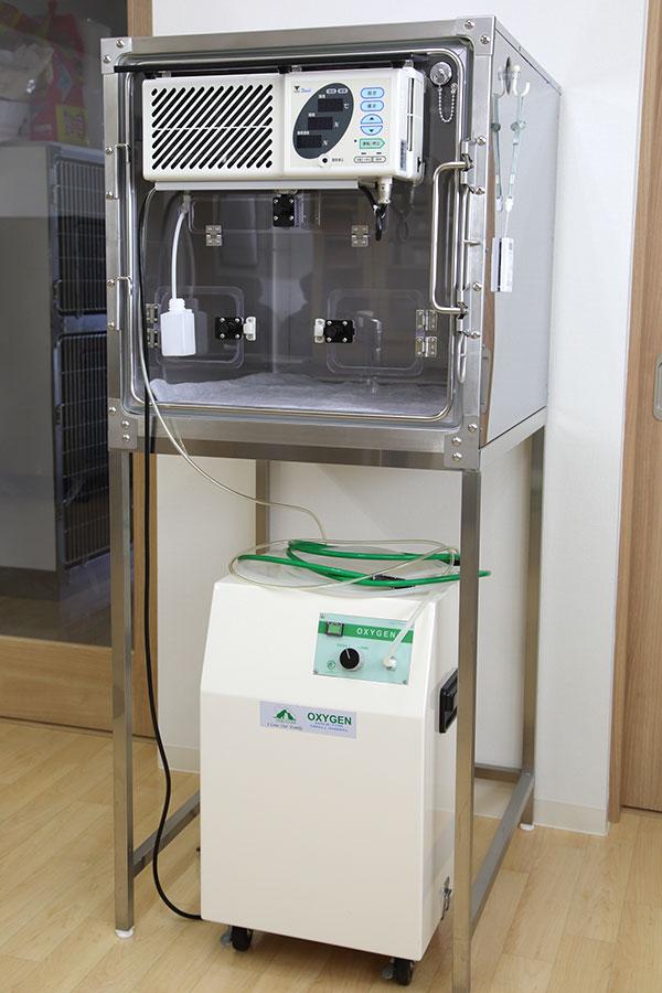 小動物用ICU装置・酸素濃縮機